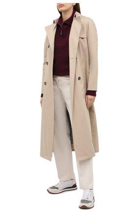 Женские замшевые кроссовки BRUNELLO CUCINELLI серого цвета, арт. MZSFG1960 | Фото 2 (Материал внутренний: Текстиль; Подошва: Платформа; Материал внешний: Замша)
