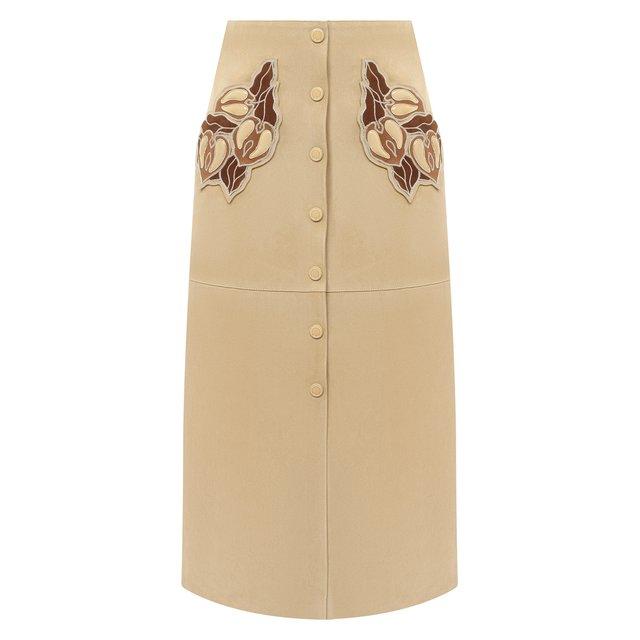 Кожаная юбка Chloé