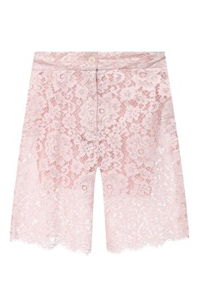 Женские шорты DOLCE & GABBANA светло-розового цвета, арт. FTBXST/HLMEA | Фото 1