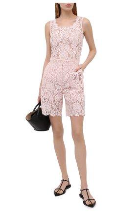 Женские шорты DOLCE & GABBANA светло-розового цвета, арт. FTBXST/HLMEA | Фото 2