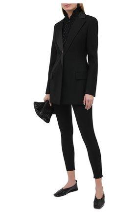 Женские шерстяные брюки DOLCE & GABBANA черного цвета, арт. FTBU0T/FUBE7 | Фото 2