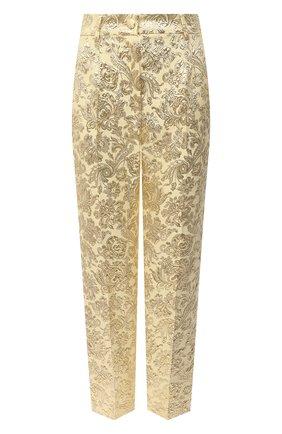 Женские брюки DOLCE & GABBANA золотого цвета, арт. FTAM2T/HJMLB | Фото 1