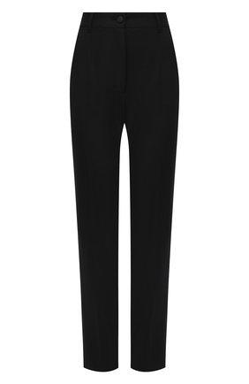 Женские шерстяные брюки DOLCE & GABBANA черного цвета, арт. FTAM2T/FUBEI | Фото 1
