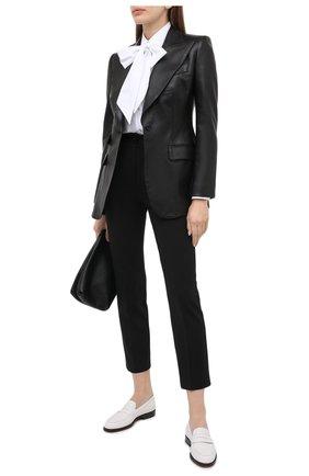 Женские шерстяные брюки DOLCE & GABBANA черного цвета, арт. FTAM2T/FUBEI | Фото 2