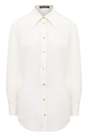 Женская шелковая рубашка DOLCE & GABBANA белого цвета, арт. F5N15T/FU1UJ | Фото 1