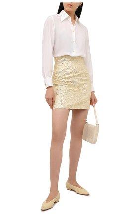 Женская шелковая рубашка DOLCE & GABBANA белого цвета, арт. F5N15T/FU1UJ | Фото 2