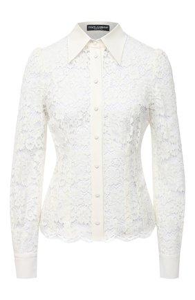 Женская блузка DOLCE & GABBANA белого цвета, арт. F5L81T/HLMEA | Фото 1
