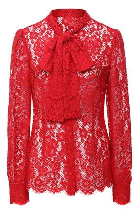 Женская блузка DOLCE & GABBANA красного цвета, арт. F5L79T/HLMEA | Фото 1