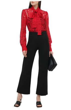 Женская блузка DOLCE & GABBANA красного цвета, арт. F5L79T/HLMEA | Фото 2