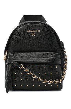 Женский рюкзак slater small MICHAEL MICHAEL KORS черного цвета, арт. 30F0G04B0I | Фото 1