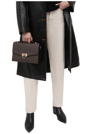 Женская сумка hendrix medium MICHAEL MICHAEL KORS коричневого цвета, арт. 30F0G1HM2B | Фото 2