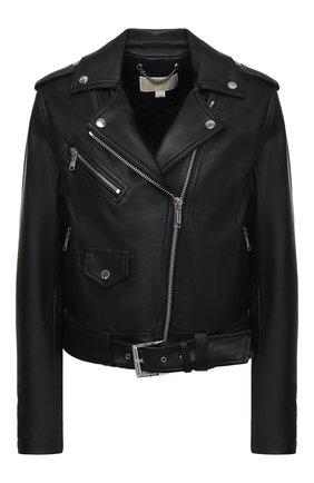 Женская кожаная куртка MICHAEL MICHAEL KORS черного цвета, арт. MB92HYG8RK | Фото 1