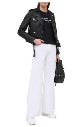 Женская кожаная куртка MICHAEL MICHAEL KORS черного цвета, арт. MB92HYG8RK | Фото 2