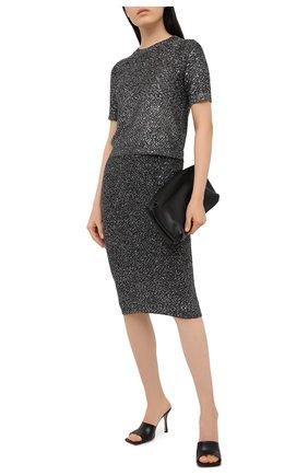 Женская юбка MICHAEL MICHAEL KORS черного цвета, арт. MF07F66FJV | Фото 2