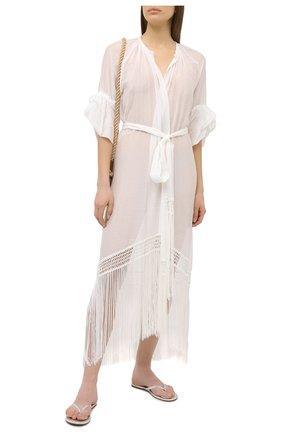 Женское туника из хлопка и шелка LILA EUGENIE белого цвета, арт. 21910 MIDI | Фото 2
