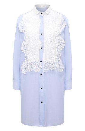 Женское хлопковое платье LILA EUGENIE голубого цвета, арт. 21909 | Фото 1