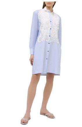 Женское хлопковое платье LILA EUGENIE голубого цвета, арт. 21909 | Фото 2