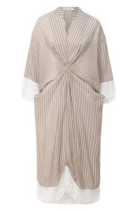Женское хлопковое платье LILA EUGENIE бежевого цвета, арт. 21422 | Фото 1