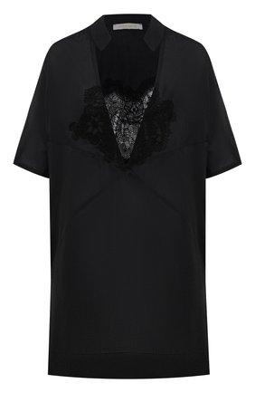 Женское хлопковая туника LILA EUGENIE черного цвета, арт. 2041 MINI | Фото 1