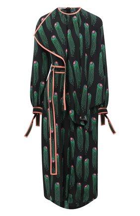 Женское шелковое платье STELLA MCCARTNEY черного цвета, арт. 602197/SPA33 | Фото 1