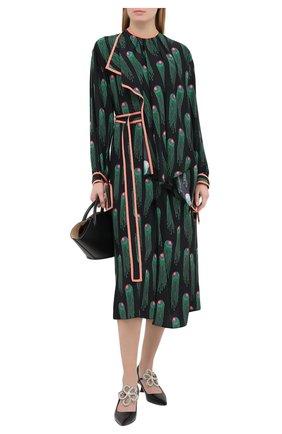Женское шелковое платье STELLA MCCARTNEY черного цвета, арт. 602197/SPA33 | Фото 2
