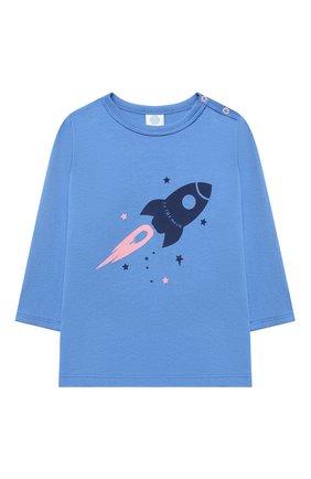 Детский хлопковая пижама SANETTA голубого цвета, арт. 221573 | Фото 2