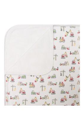 Детского хлопковое одеяло KISSY KISSY белого цвета, арт. KB7048180 | Фото 1