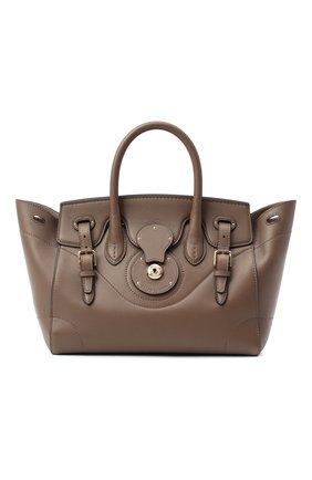 Женская сумка light ricky 27 RALPH LAUREN коричневого цвета, арт. 435791042   Фото 1