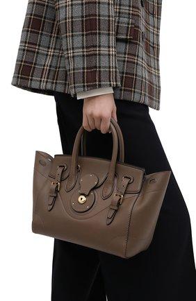 Женская сумка light ricky 27 RALPH LAUREN коричневого цвета, арт. 435791042   Фото 2