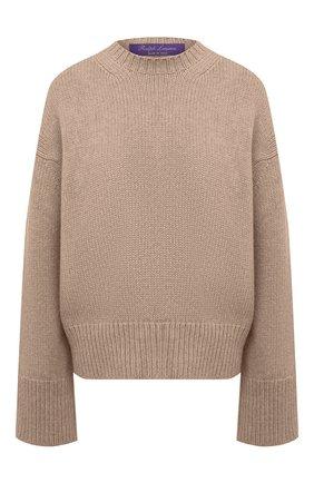 Женский свитер из кашемира и шерсти RALPH LAUREN темно-бежевого цвета, арт. 290815906   Фото 1
