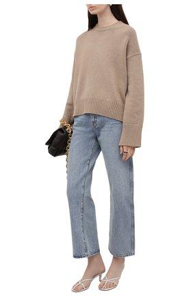 Женский свитер из кашемира и шерсти RALPH LAUREN темно-бежевого цвета, арт. 290815906   Фото 2