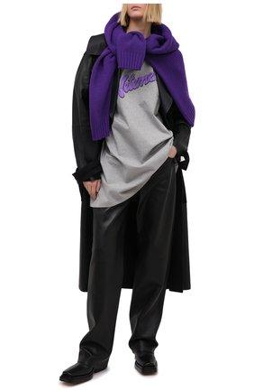 Женская хлопковая футболка VETEMENTS серого цвета, арт. UE51TR760G 1614/W | Фото 2