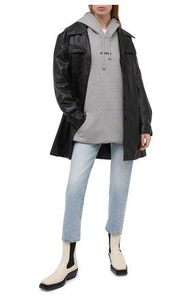 Женская хлопковое худи VETEMENTS серого цвета, арт. UE51TR550G 1601/W | Фото 2