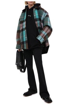 Женская хлопковое худи VETEMENTS черного цвета, арт. UE51TR550B 1601/W | Фото 2
