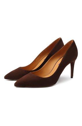 Женские замшевые туфли armissa RALPH LAUREN коричневого цвета, арт. 800838026 | Фото 1