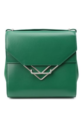 Женская сумка clip BOTTEGA VENETA зеленого цвета, арт. 652391/V0I42   Фото 1 (Размер: small; Ремень/цепочка: На ремешке; Материал: Натуральная кожа; Сумки-технические: Сумки через плечо)