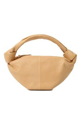 Женская сумка double knot mini BOTTEGA VENETA бежевого цвета, арт. 629635/VCP41 | Фото 1 (Материал: Натуральная кожа; Сумки-технические: Сумки top-handle; Размер: mini)