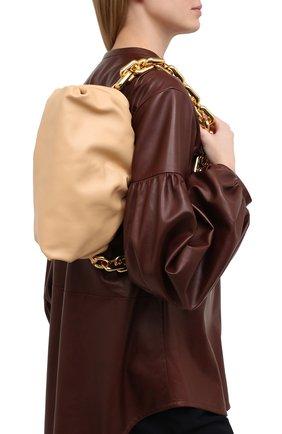 Женская сумка chain pouch BOTTEGA VENETA бежевого цвета, арт. 620230/VCP40 | Фото 2