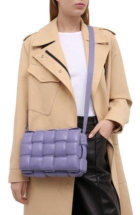 Женская сумка padded cassette BOTTEGA VENETA сиреневого цвета, арт. 591970/VCQR1 | Фото 2