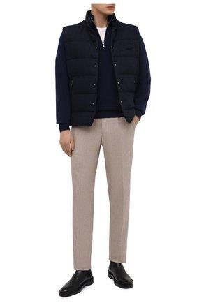 Мужской пуховый жилет RALPH LAUREN темно-синего цвета, арт. 790799086 | Фото 2