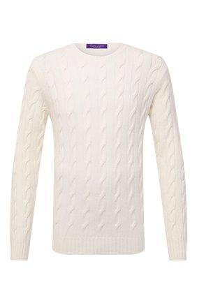 Мужской кашемировый свитер RALPH LAUREN белого цвета, арт. 790509405 | Фото 1
