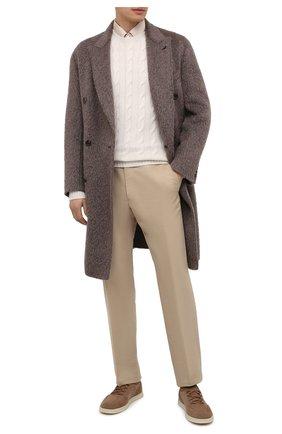 Мужской кашемировый свитер RALPH LAUREN белого цвета, арт. 790509405 | Фото 2