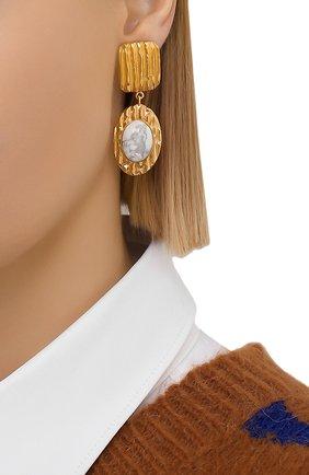 Женские серьги COPINE JEWELRY золотого цвета, арт. ZOYAH | Фото 2