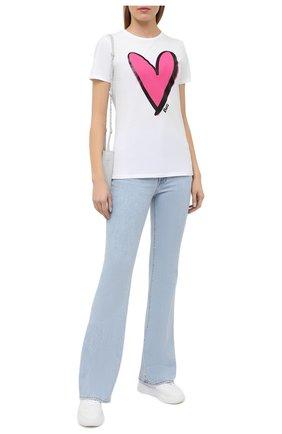 Женская хлопковая футболка BOSS белого цвета, арт. 50442503 | Фото 2