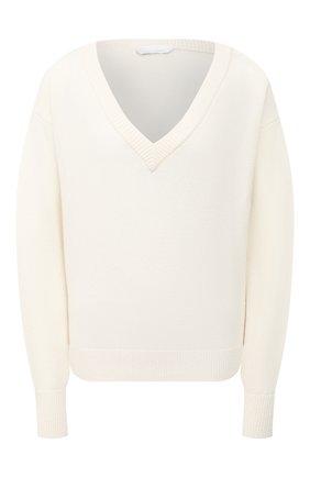 Женский кашемировый свитер BOSS белого цвета, арт. 50444484 | Фото 1