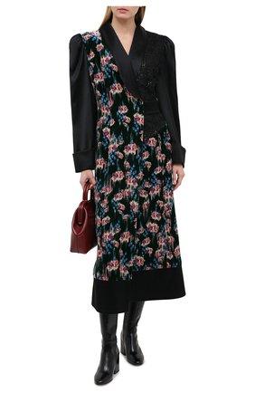Женское платье из вискозы и шелка ULYANA SERGEENKO зеленого цвета, арт. ABM002FW20P(1120т20) | Фото 2