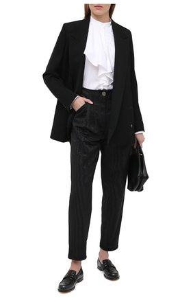 Женские брюки GIORGIO ARMANI черного цвета, арт. 0WHPP0E2/T01V4 | Фото 2