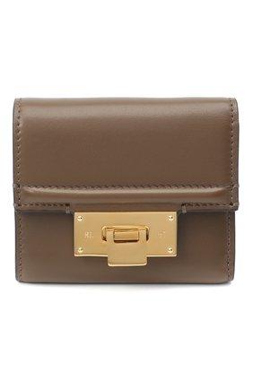 Женские кожаный портмоне RALPH LAUREN коричневого цвета, арт. 434817242 | Фото 1