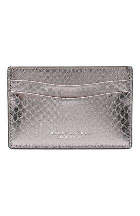 Женский кожаный футляр для кредитных карт RALPH LAUREN серебряного цвета, арт. 434817237 | Фото 1