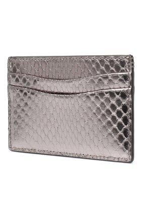Женский кожаный футляр для кредитных карт RALPH LAUREN серебряного цвета, арт. 434817237 | Фото 2